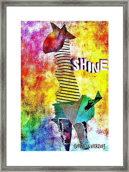 Shine Framed Print by Currie Silver