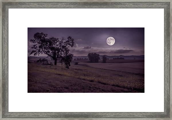 Shine On Harvest Moon Framed Print
