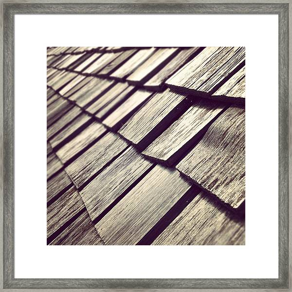 Shingles Framed Print