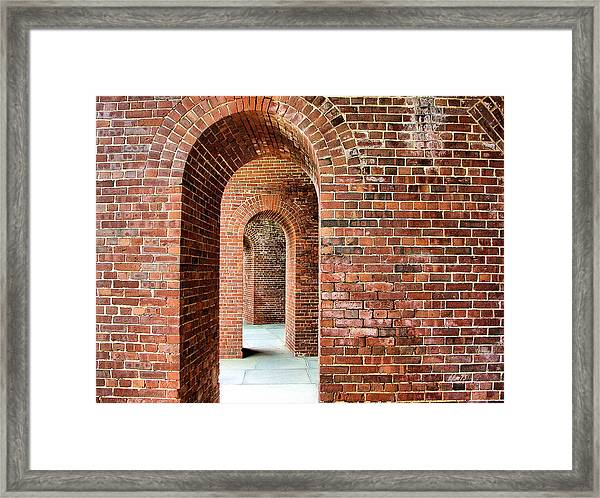 Ship Island Arches Framed Print