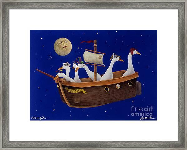 Ship Of Fools... Framed Print by Will Bullas