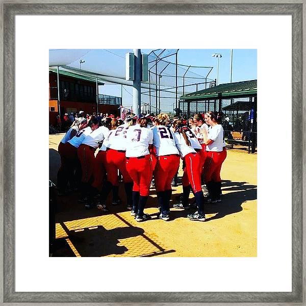 #shippensburg #softball #clermont #ntc Framed Print