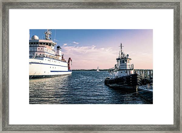 Ships Of Woods Hole Framed Print