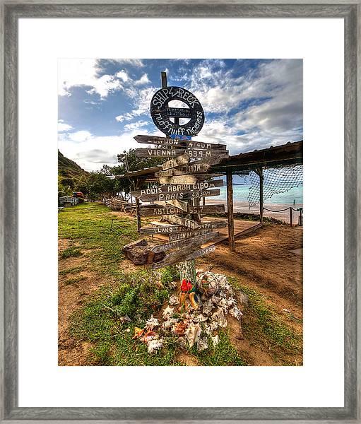 Shipwreck Beach Framed Print