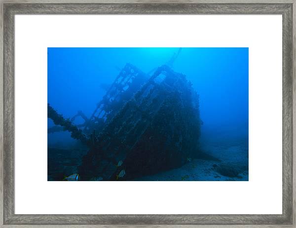 Shipwreck On Govenors River Walk Framed Print