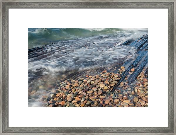 Shipwreck Waves Framed Print