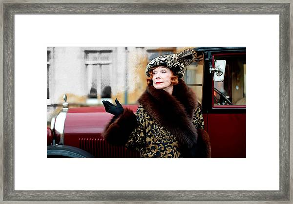 Shirley Maclaine @ Tv Serie Downton Abbey  Framed Print