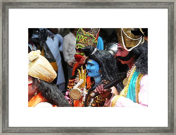 Shiva And Friends Framed Print