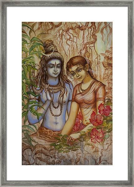 Shiva And Parvati Framed Print