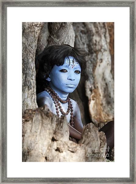 Shiva Boy Framed Print