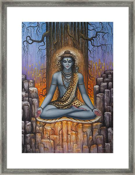 Shiva Meditation Framed Print