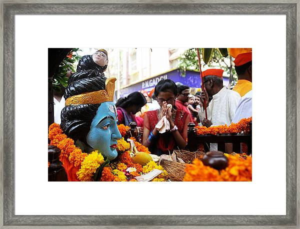 Shiva Prayer Framed Print