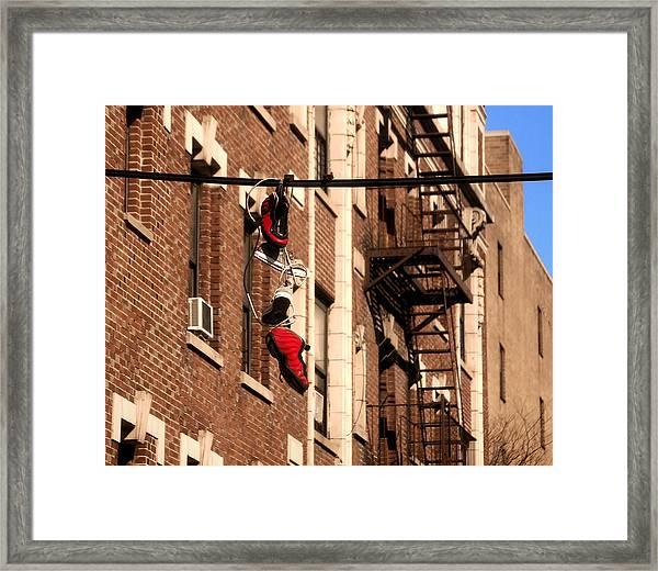 Shoes Hanging Framed Print