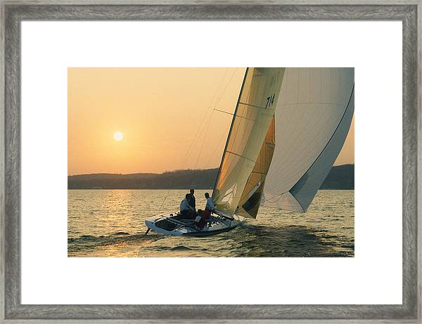 Shooting The Breeze - Lake Geneva Wisconsin Framed Print