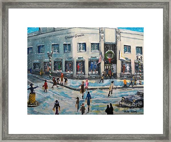 Shopping At Grover Cronin Framed Print