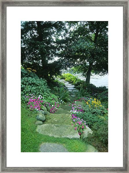 Shore Path - Lake Geneva Wisconsin Framed Print