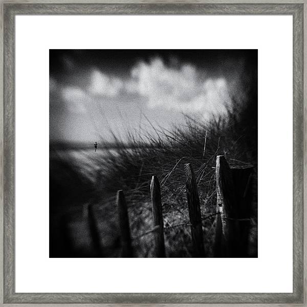 Shore Runner Framed Print