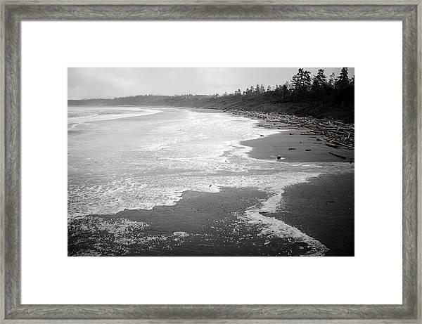 Winter At Wickaninnish Beach Framed Print