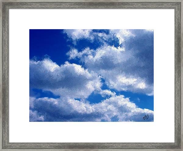 Shredded Clouds Framed Print