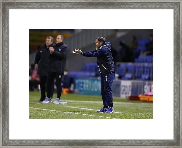 Shrewsbury Town V Gillingham - Sky Bet League One Framed Print by James Baylis - AMA