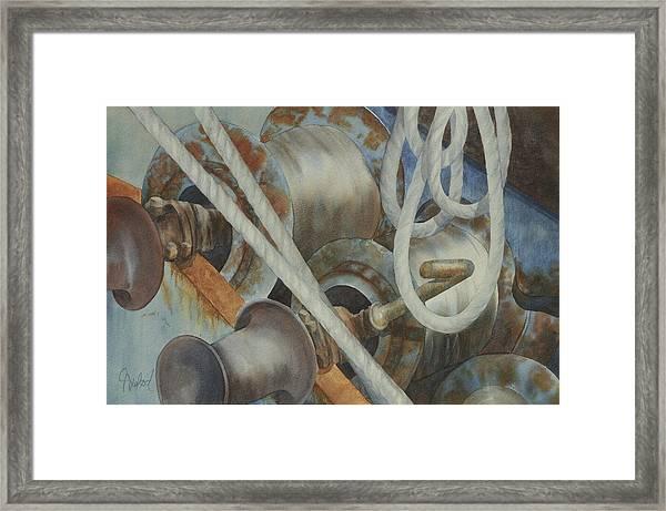 Shrimp Boat - Out Of Service Framed Print