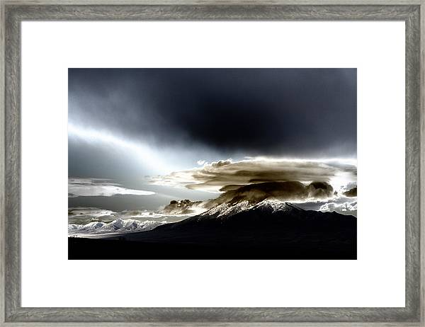 Shrouded Oquirrh Framed Print