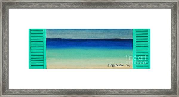 Shutter Me Sea Framed Print