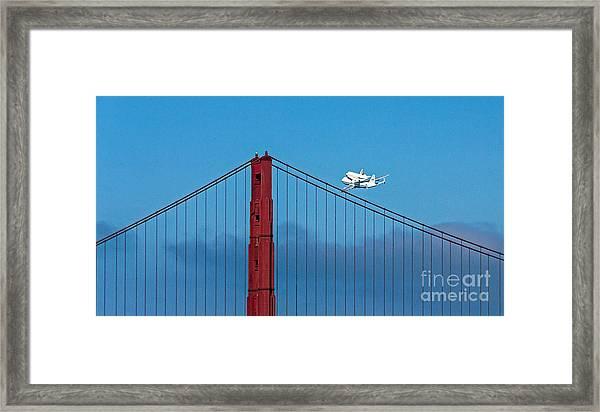 Shuttle Endeavour At The Golden Gate Framed Print
