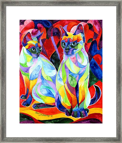 Siamese Sweethearts Framed Print