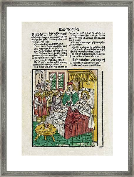 Sickbed Treatments Framed Print