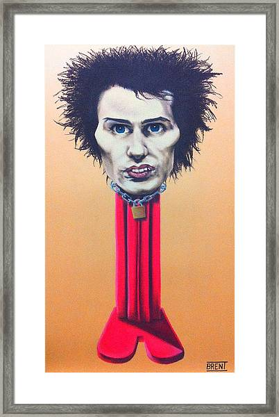 Sid Vicious Framed Print by Brent Andrew Doty