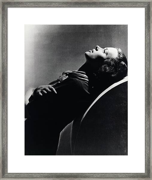 Side View Of Jessica Tandy Framed Print