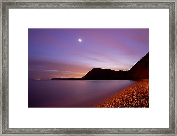 Sidmouth And Venus Framed Print