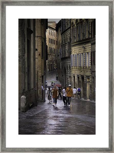 Siena Rain Framed Print