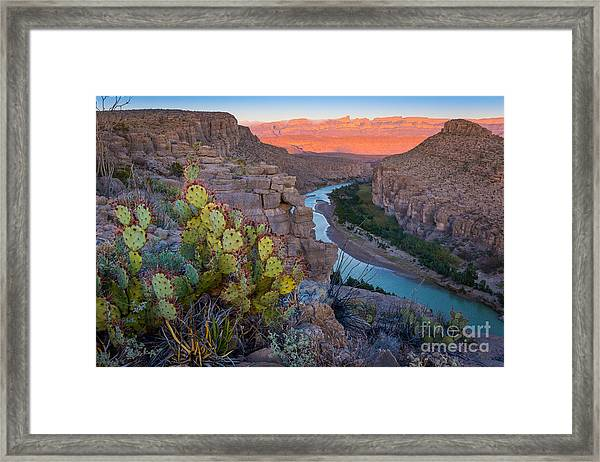 Sierra Del Carmen And The Rio Grande Framed Print
