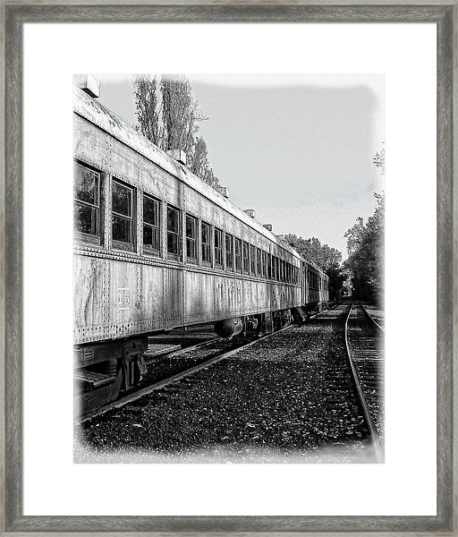 Framed Print featuring the photograph Sierra Railway On The Tracks by William Havle