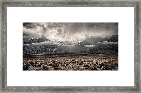 Sierra Thunderstorm Framed Print