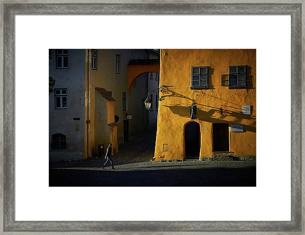 Sighisoara Framed Print by Cristian Lee