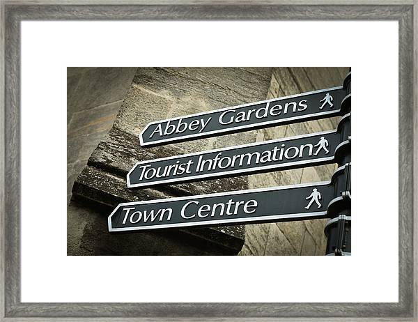 Sign Posts Framed Print