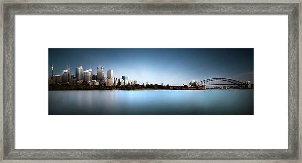 Silence Of Ms. Macquarie's Skyline Framed Print by Dr. Akira Takaue