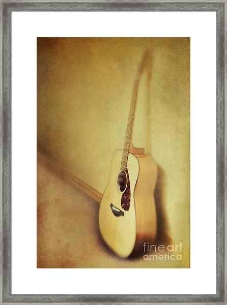 Silent Guitar Framed Print
