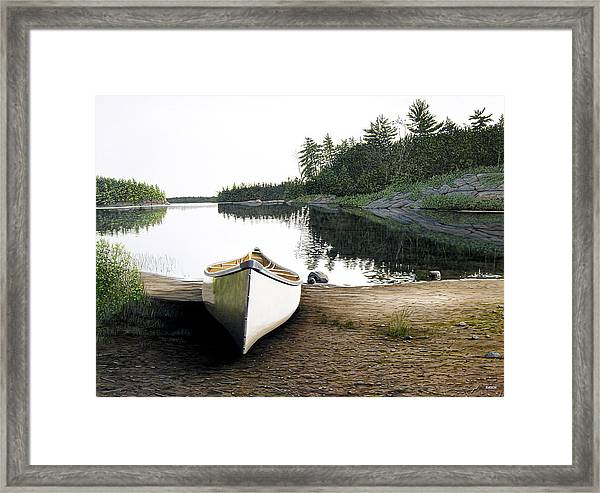 Silent Retreat Framed Print