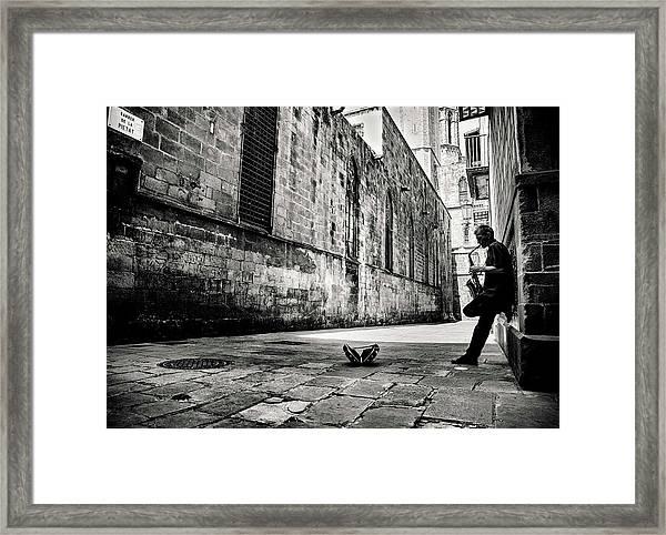 Silent Street Framed Print