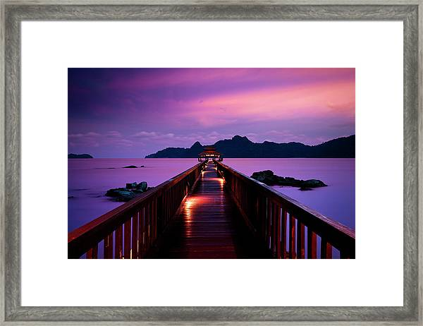 Silent Sunset In Pulau Langkawi Framed Print