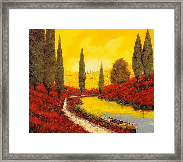 Silenzio Tra I Cipressi Framed Print