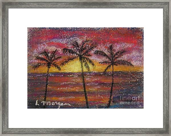 Island Silhouette  Framed Print