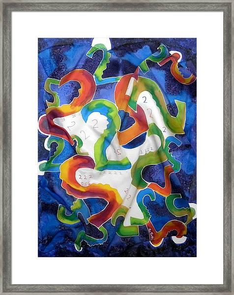 Silk 2 By 2 Framed Print