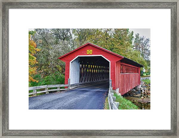 Silk Bridge 8258 Framed Print