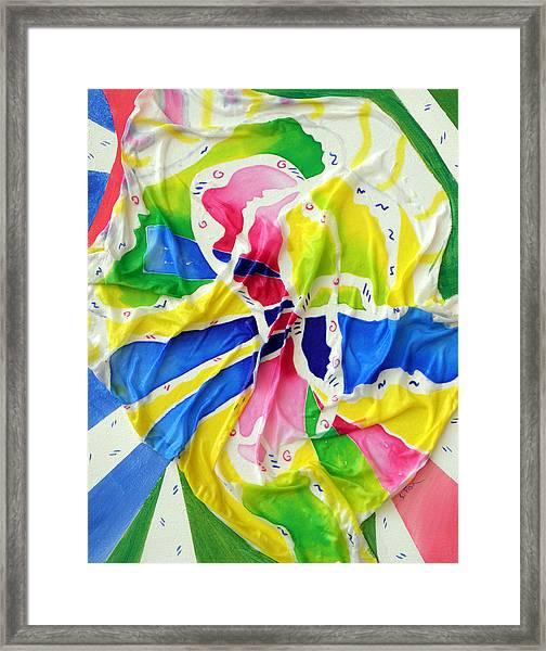 Silk Color Whirl Framed Print