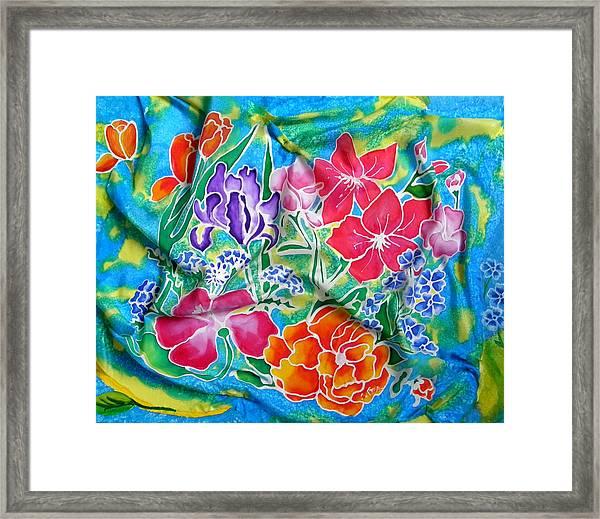 Silk Summer Bouquet Framed Print